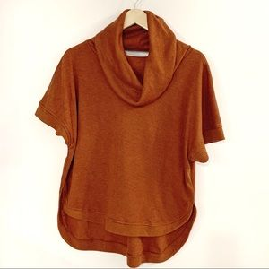 TCEC Orange Cowl Sweater with Criss Cross